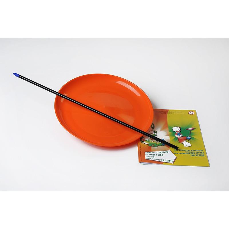 Assiette de jonglage + baguette plastique + livret