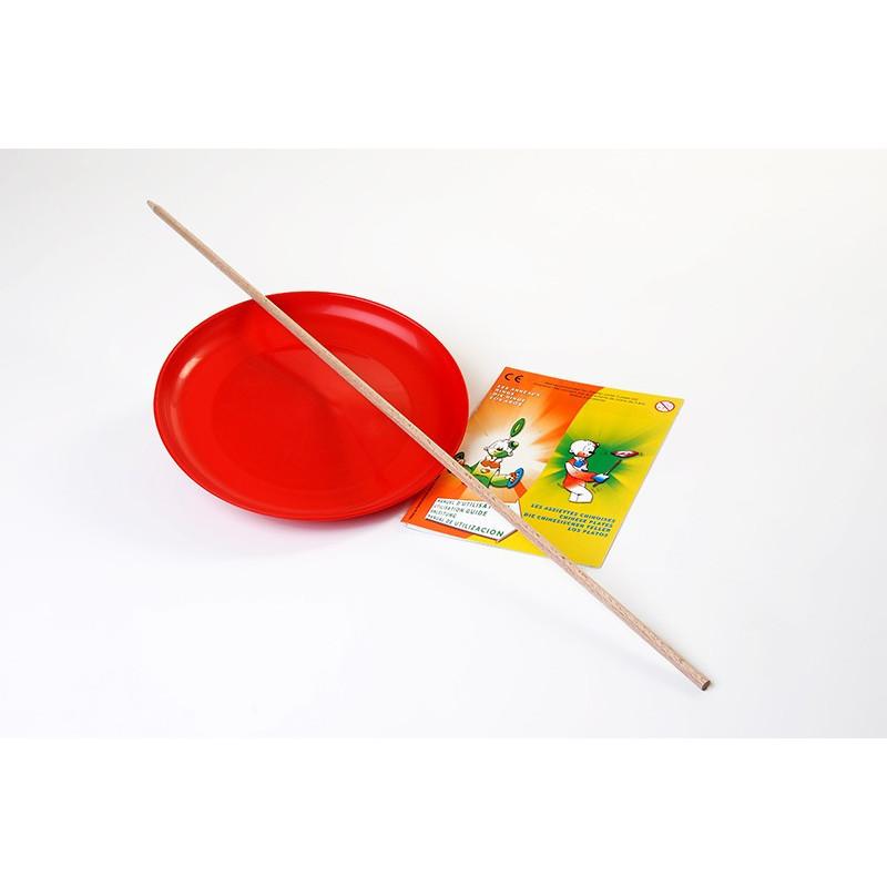Assiette de jonglage + baguette bois + livret