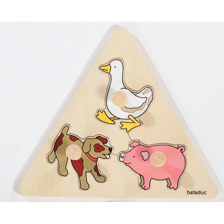 Animaux en triangle
