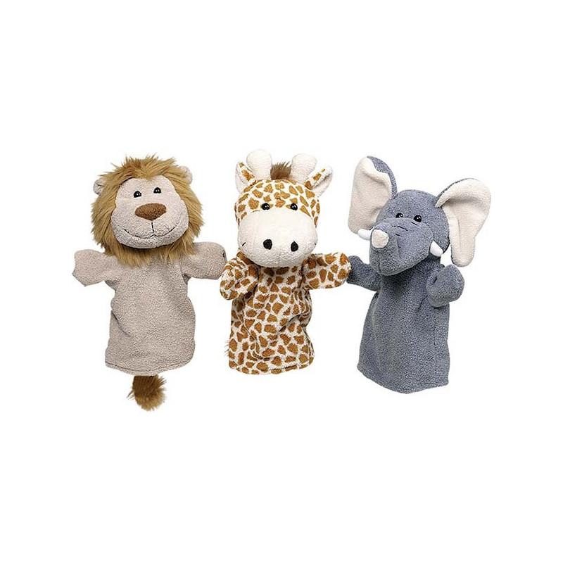 Marionnettes animaux sauvages (lot de 6)