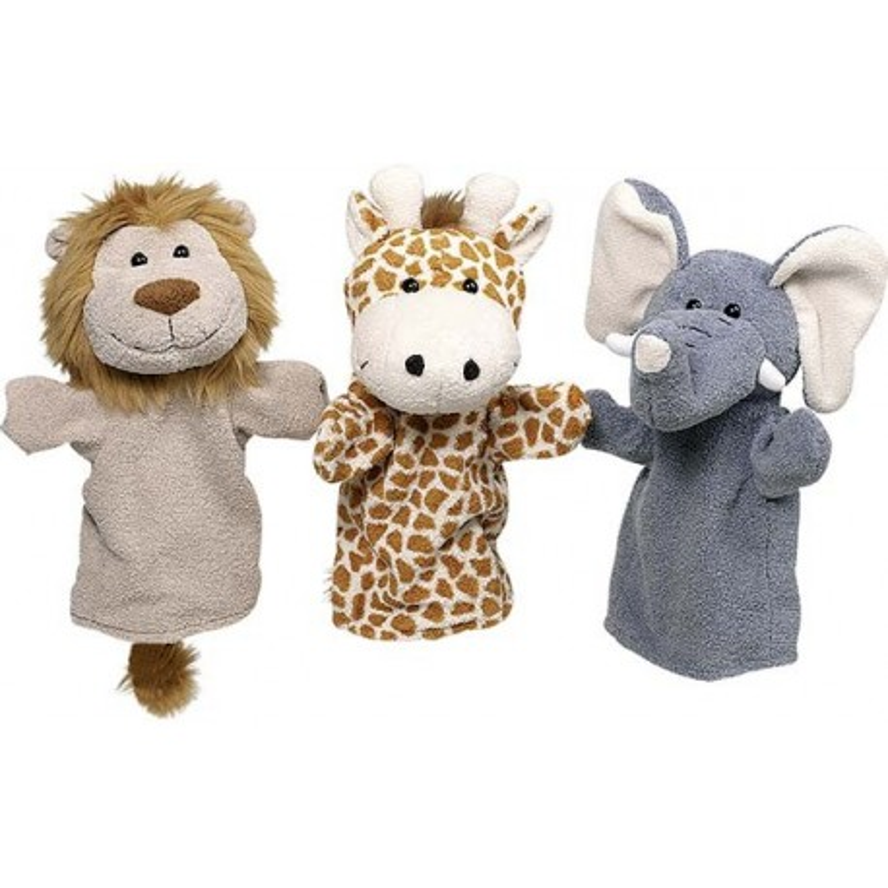 Marionnettes, animaux sauvages (lot de 6)