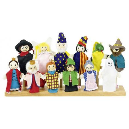 Assortiment de marionnettes à doigt (lot de 12)