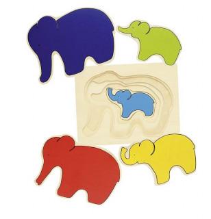 Puzzle 5 étages Éléphant