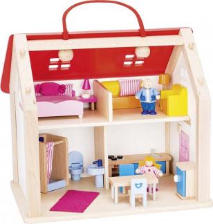 Valise maison de poupées