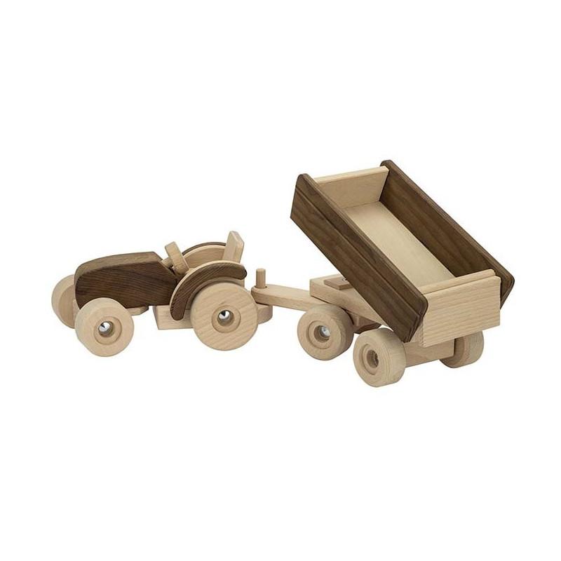 Tracteur avec remorque Goki nature