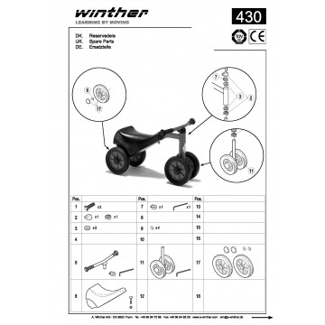 Safety scooter Mini Viking Winther 430.20