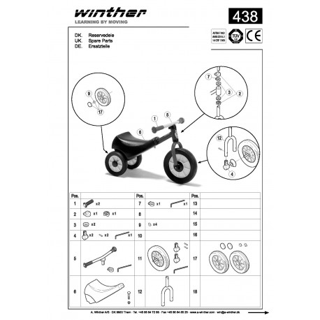 Racing scooter Mini Viking Winther 438.20