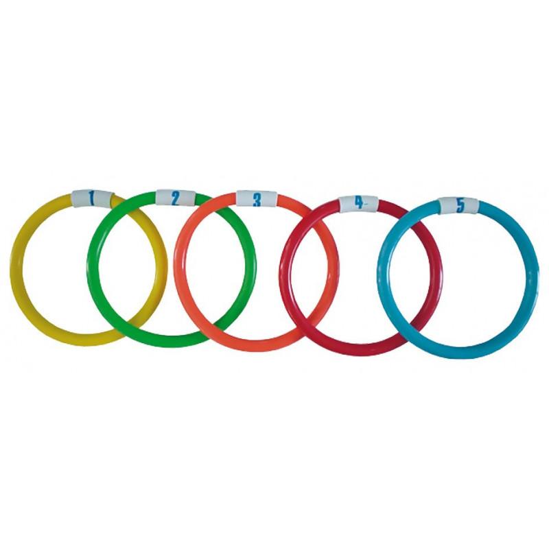 Set de 5 anneaux lestés