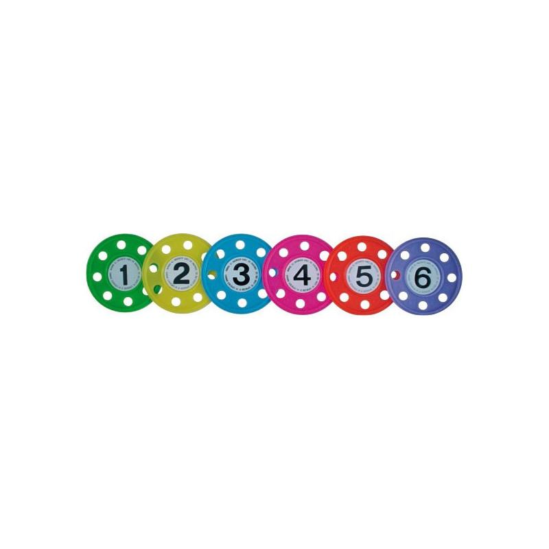Set de 6 disques lestés