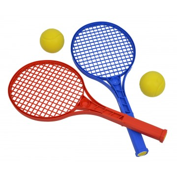 Lot de 2 raquettes mini tennis + 2 balles