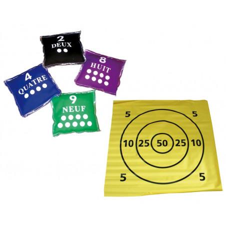 Kit découverte cible 1m x 1m + lot de 10 sachets numérotés