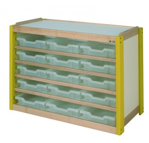 Meuble 15 casiers translucides