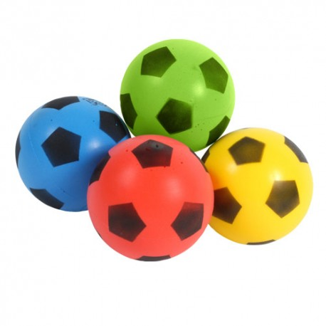 Ballons de football mousse Softy (lot de 4)