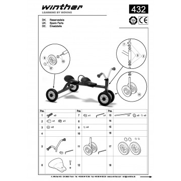 Push Bike for two Mini Viking Winther 432.20